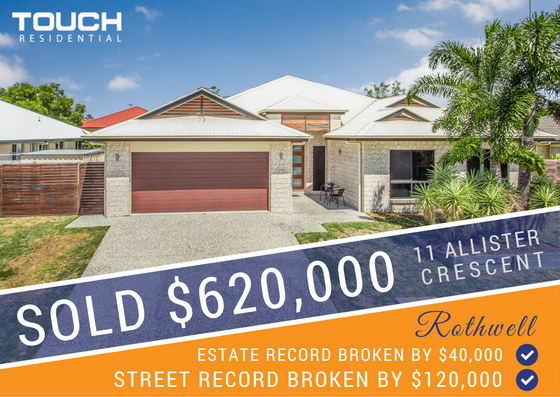 SOLD! - TWO RECORDS BROKEN WITH $620,000 SALE OF 11 ALLISTER CRES, ROTHWELL