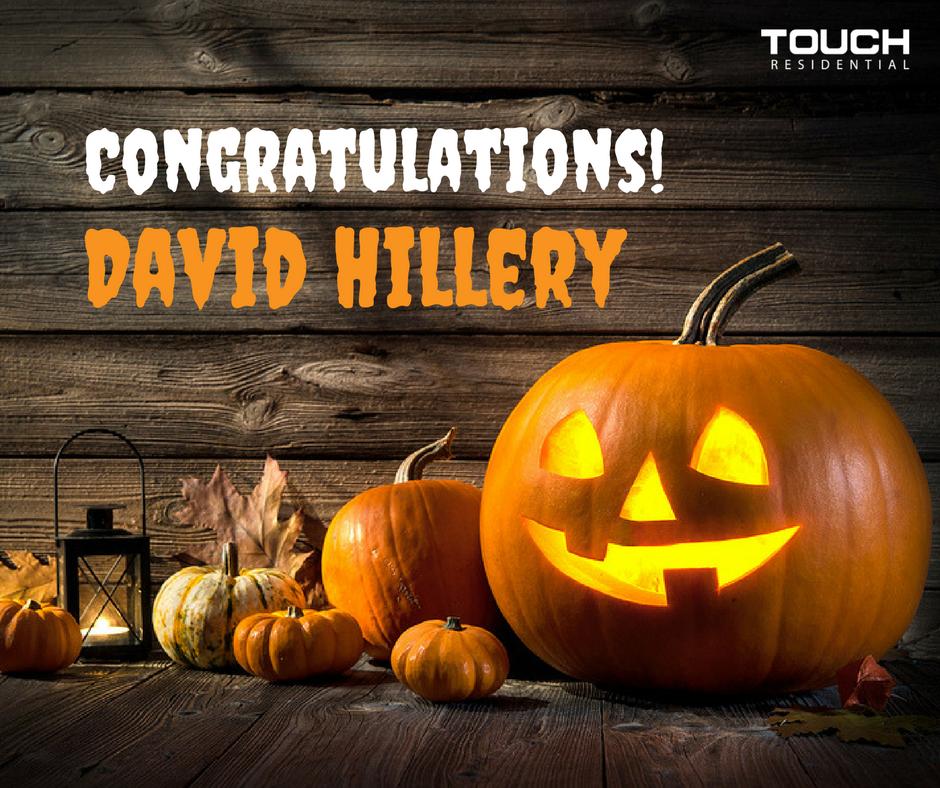 Congratulations David Hilary!