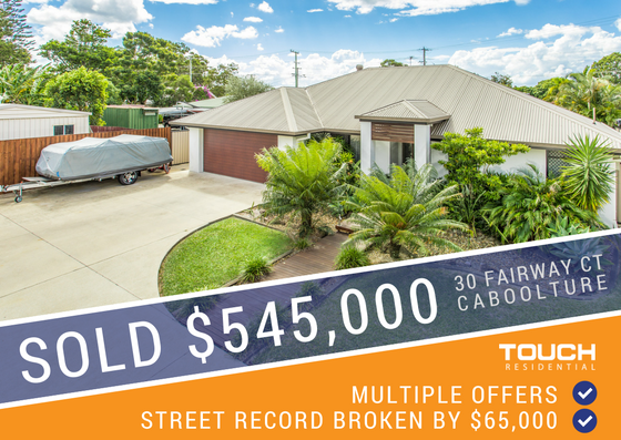 SOLD FOR STREET RECORD - 30 Fairway Ct, Caboolture